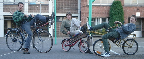 Three recumbent bicycles i made from old bikes during my teaching days.